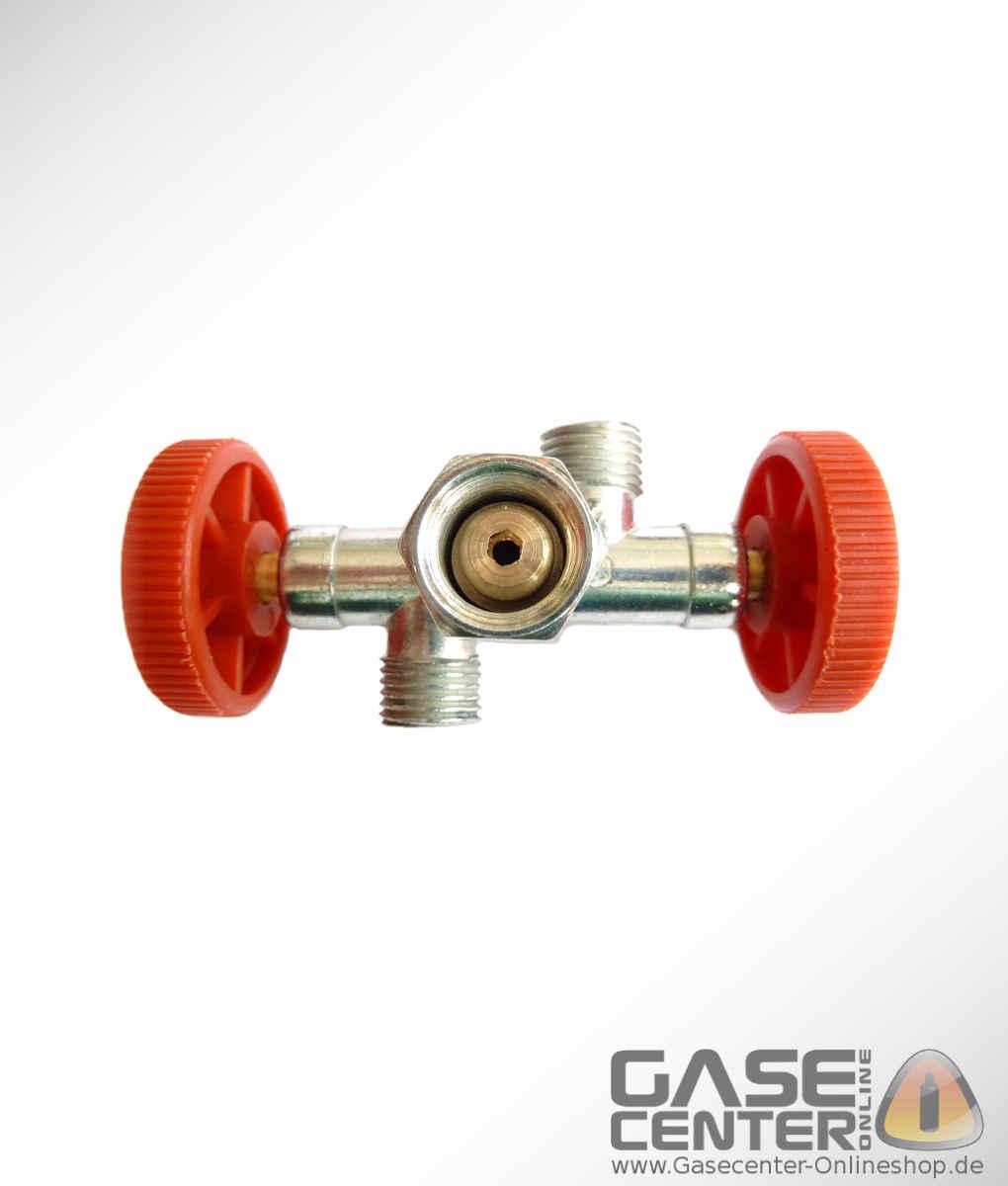 Doppelabzweigventil Gasverteiler Zweiwegeventil Propan