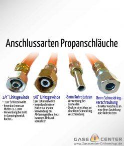 Propanschlauch Anschluesse